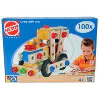 HEROS S 39027 - Dřevěný konstrukční set Constructor 100 dílů