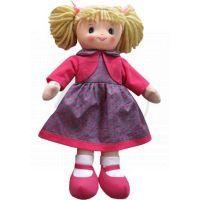 Hm Studio Panenka textilní fialové šaty 50 cm