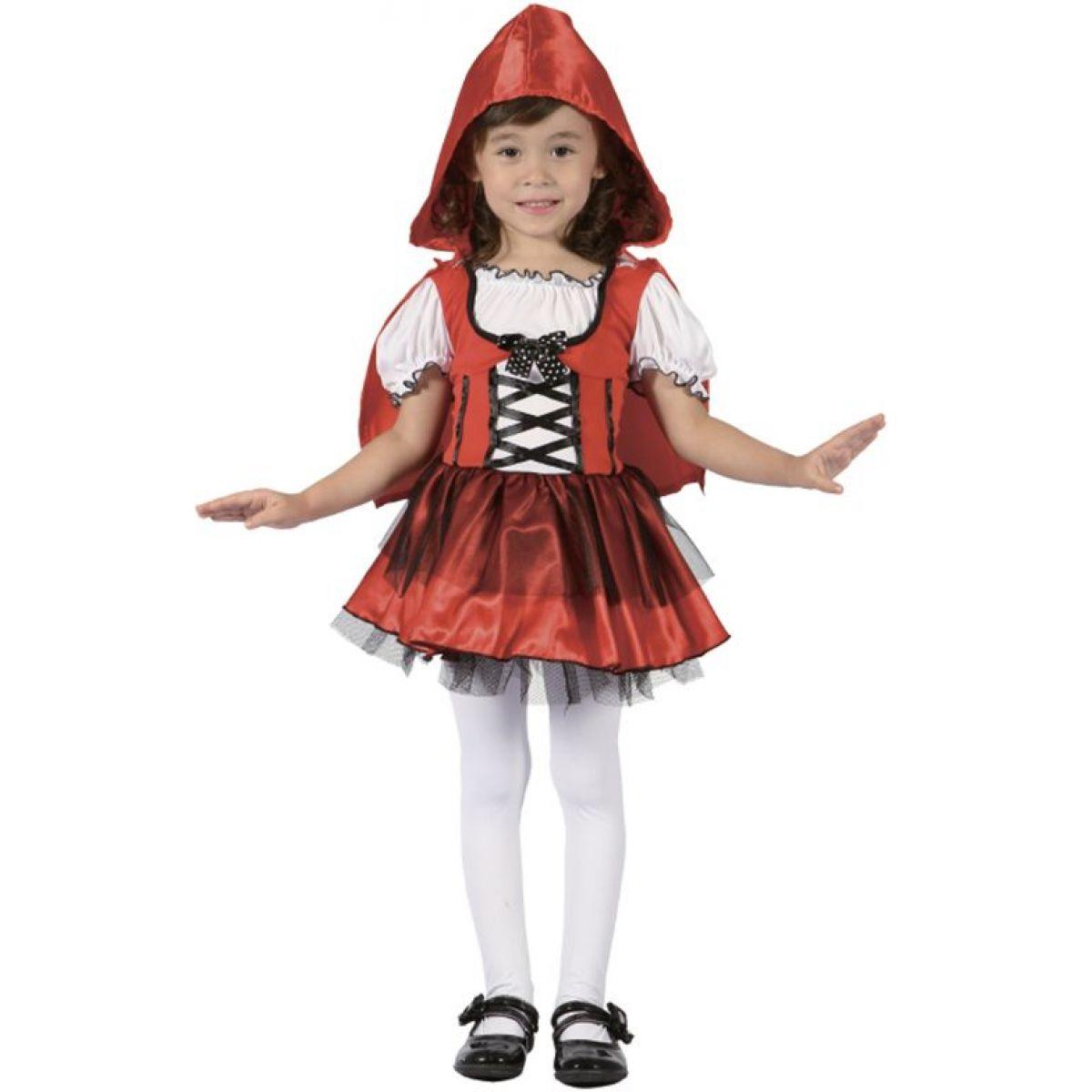 HM Studio Dětský kostým Červená Karkulka s čepečkem 92-104 cm