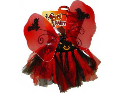 HM Studio Dětský kostým Halloween víla červená