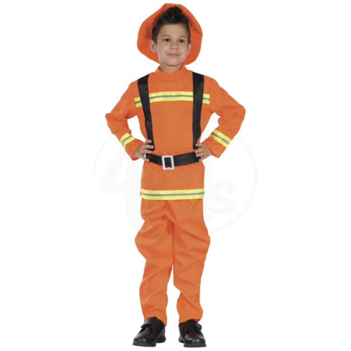 HM Studio Dětský kostým Hasič 130-140 cm 237810b68ef