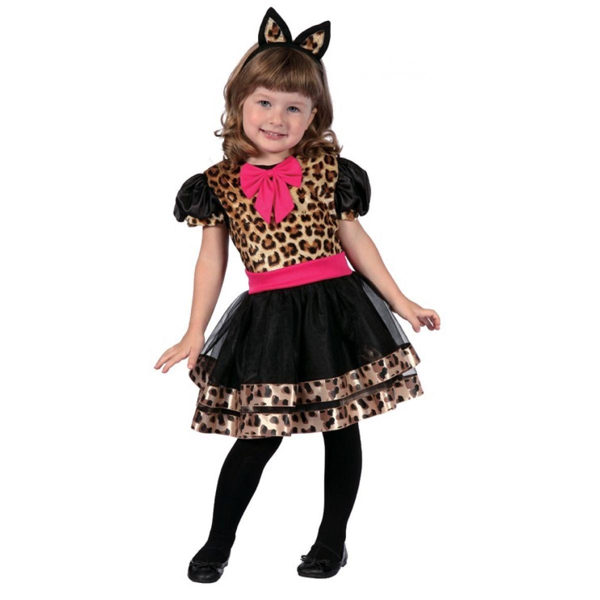 HM Studio Dětský kostým Leopardí dívka 92 - 104 cm