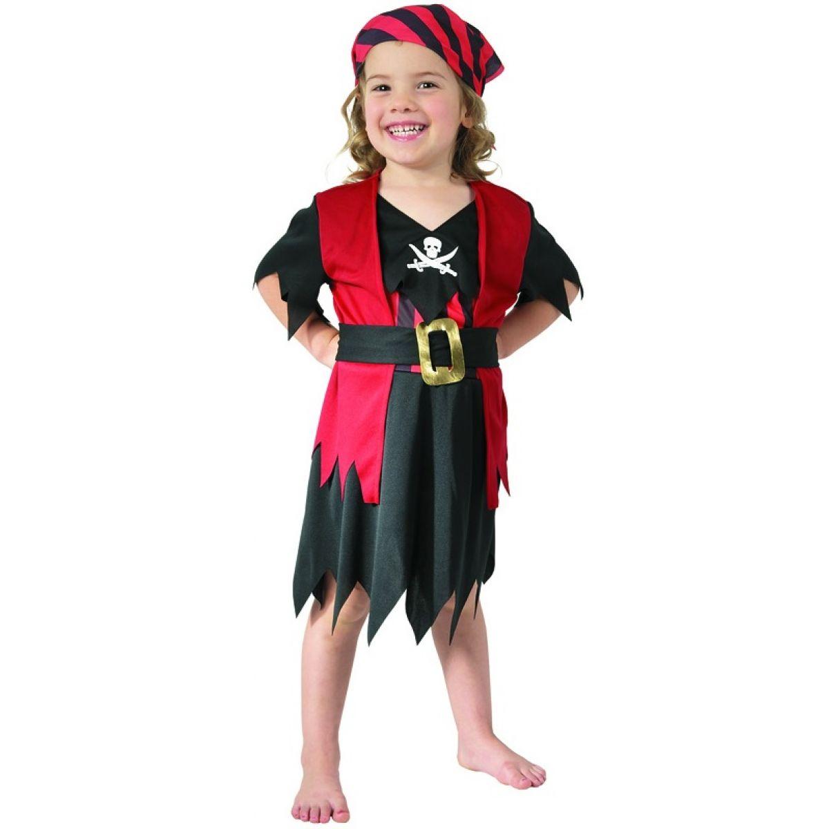 HM Studio Dětský kostým Pirátka 92 - 104 cm