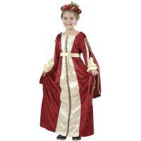 HM Studio Dětský kostým Princezna Vínově červené šaty 130-140 cm