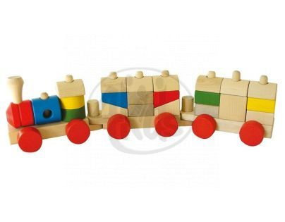 HM STUDIO 16V56213 - Dřevěný vlak malý
