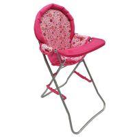 HM Studio Jídelní židlička růžová s puntíky
