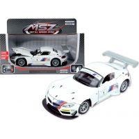 HM Studio kovový model BMW Z4 GT3 1:24 bílé