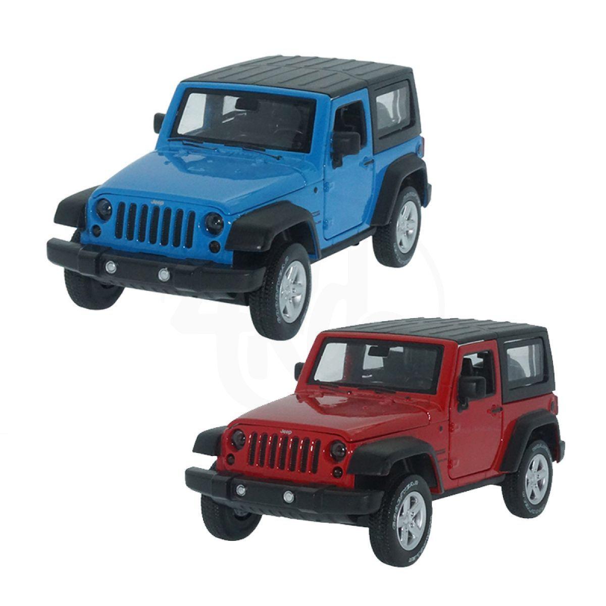 HM Studio kovový model Jeep Wrangler 1:32 - Modrý