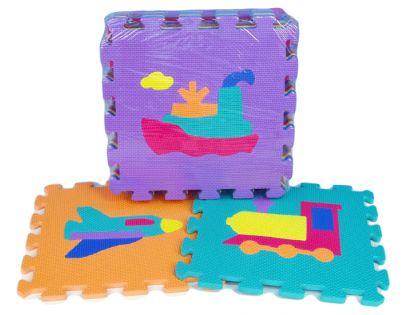 HM Studio 145070DV - Pěnové puzzle 30x30 10 ks (dopravní prostředky)