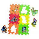 HM STUDIO 145050PK - Pěnové puzzle Krtek 6 dílků 15 x15cm 2