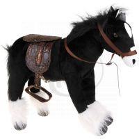 HM Studio Plyšový kůň černý 48 cm