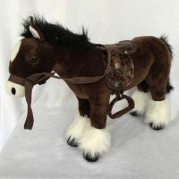 HM Studio Plyšový Kůň černý 38 cm