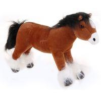 HM Studio Plyšový kůň světle hnědý 25 cm