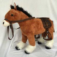HM Studio Plyšový kůň světle hnědý 48 cm