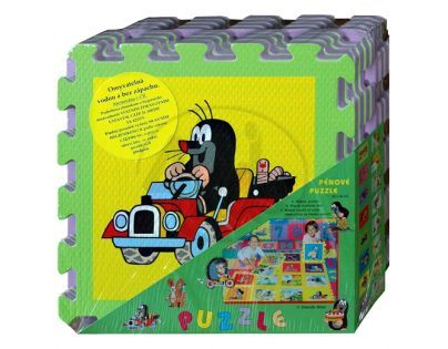 HM STUDIO 145070PK1 - Pěnové puzzle Krtek 30x30 8ks