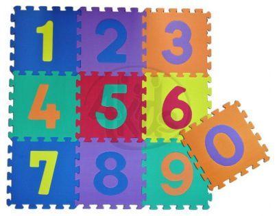 HM Studio Pěnové puzzle Čísla 30 x 30 cm 10ks