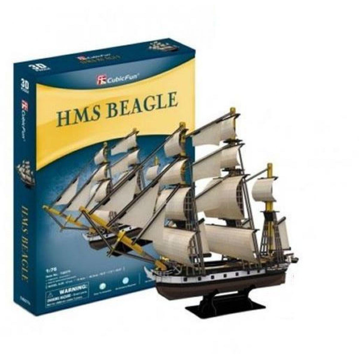HM Studio Puzzle 3D HMS Beagle 168 dílků