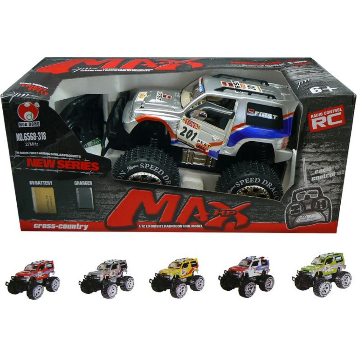 HM Studio RC Speed Dragon 1:12 SUV, červené
