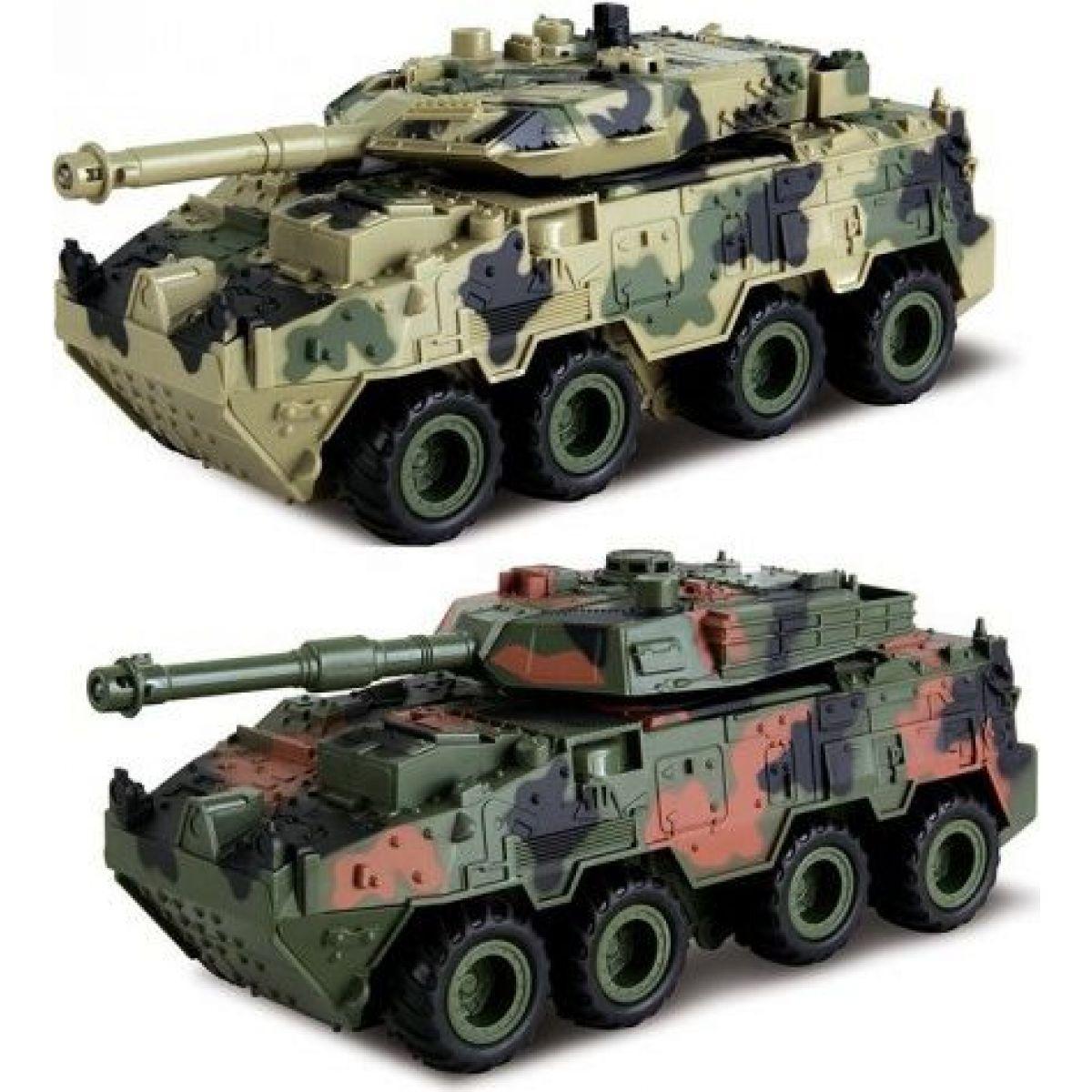 HM Studio Tank 4WD světlo a zvuk 1:28 - světle maskáčový