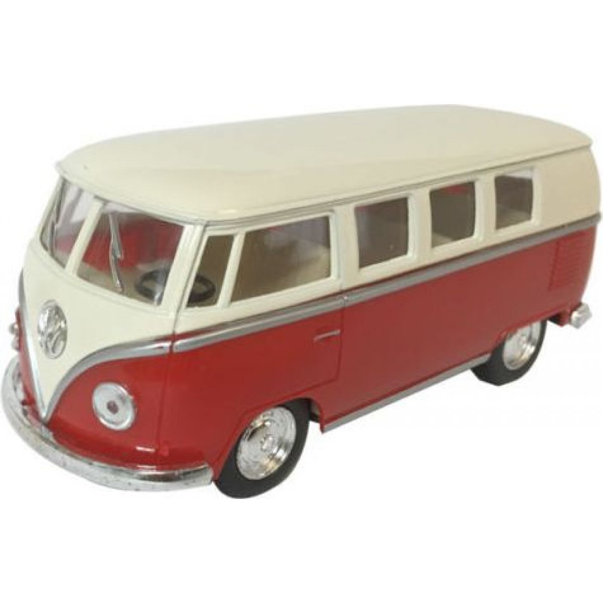 HM Studio VW Classical Bus Ivory Top 1962 červený