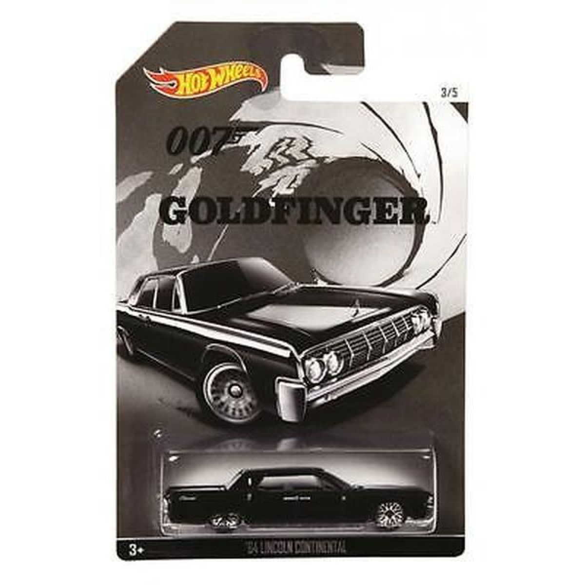 Hot Wheels angličák James Bond 007 - 64 Lincoln Continental