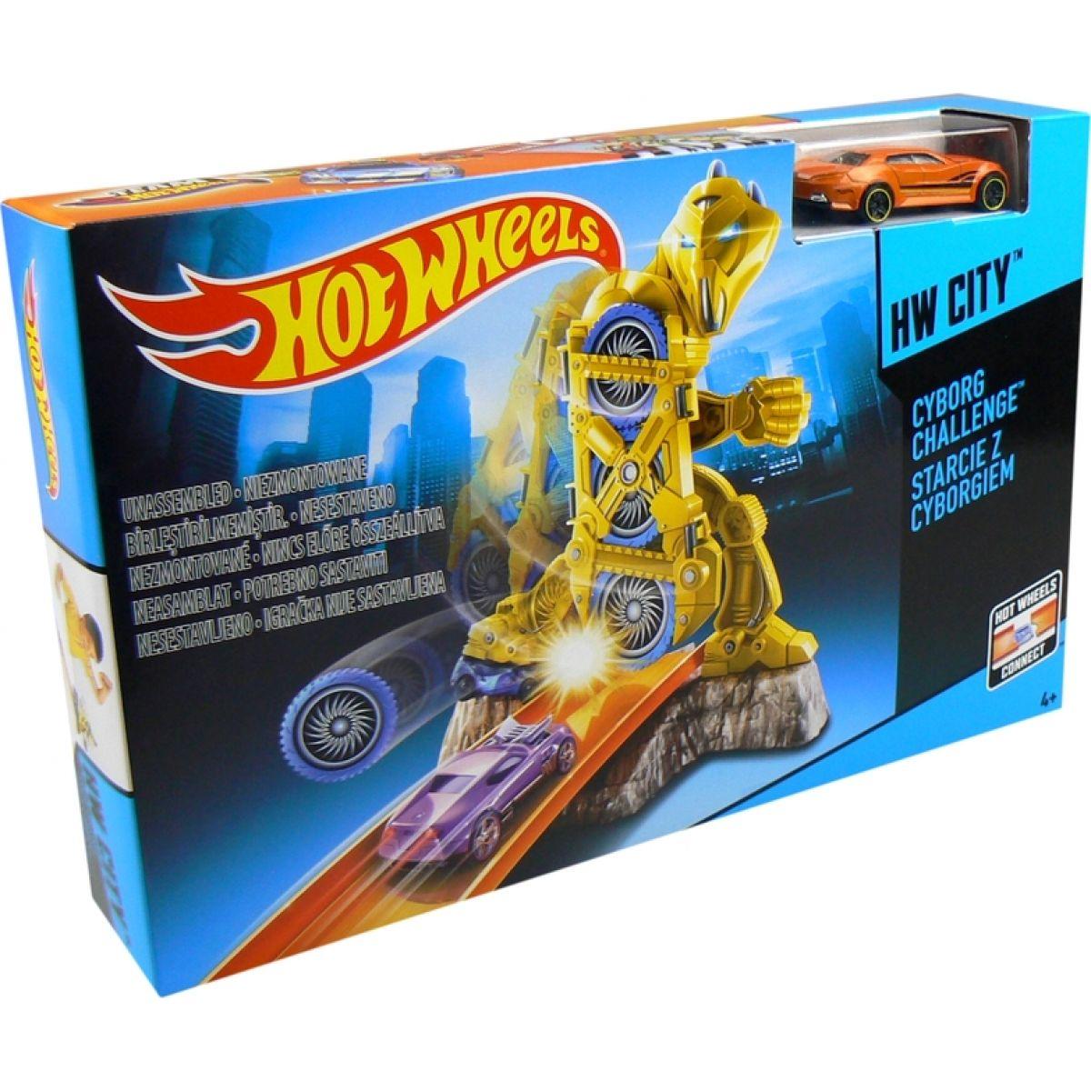Hot Wheels Dráha závodní překážky - Cyborg Challenge