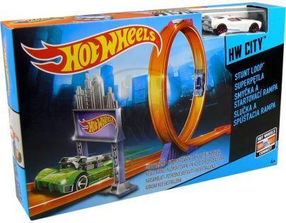 Hot Wheels Dráha závodní překážky - Smyčka a startovací rampa