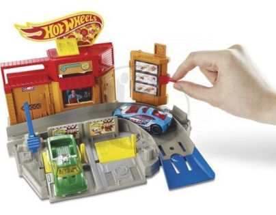 Hot Wheels BGH94 Set městem na kolech - Pizza Drive