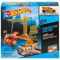 Hot Wheels Set městem na kolech - Stavební křižovatka 4