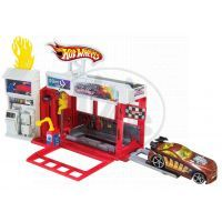 Hot Wheels Set městem na kolech - Závodní hasičská stanice