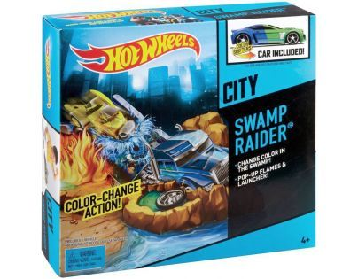 Hot Wheels Color Shifters akční set - Swamp Raider