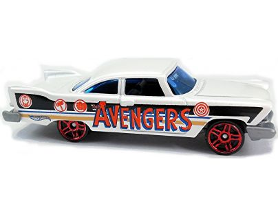 Hot Wheels Captain America angličák - 57 Plymouth Fury