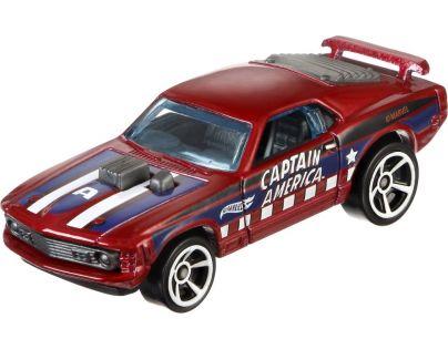 Hot Wheels Captain America angličák - 70 Ford Mustang Mach1