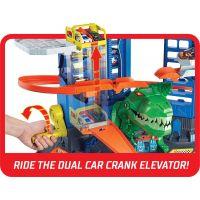 Hot Wheels city garáž s T-rexem 4
