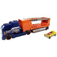 Hot Wheels Havarující tahač modrá kabina