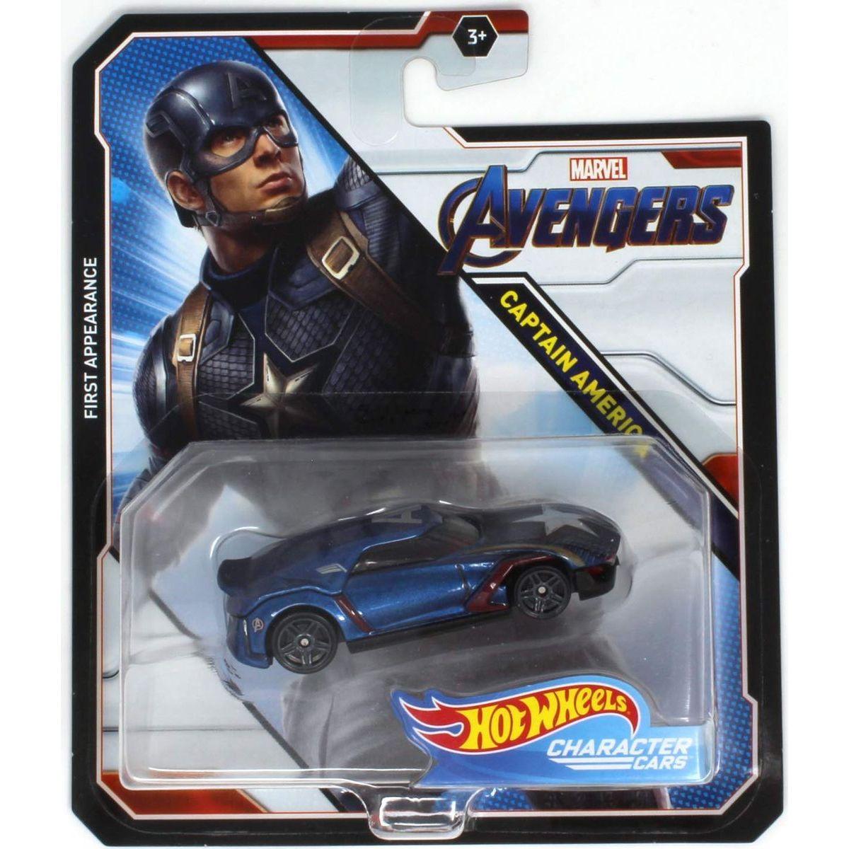 Hot Wheels Marvel Character Cars Captain America