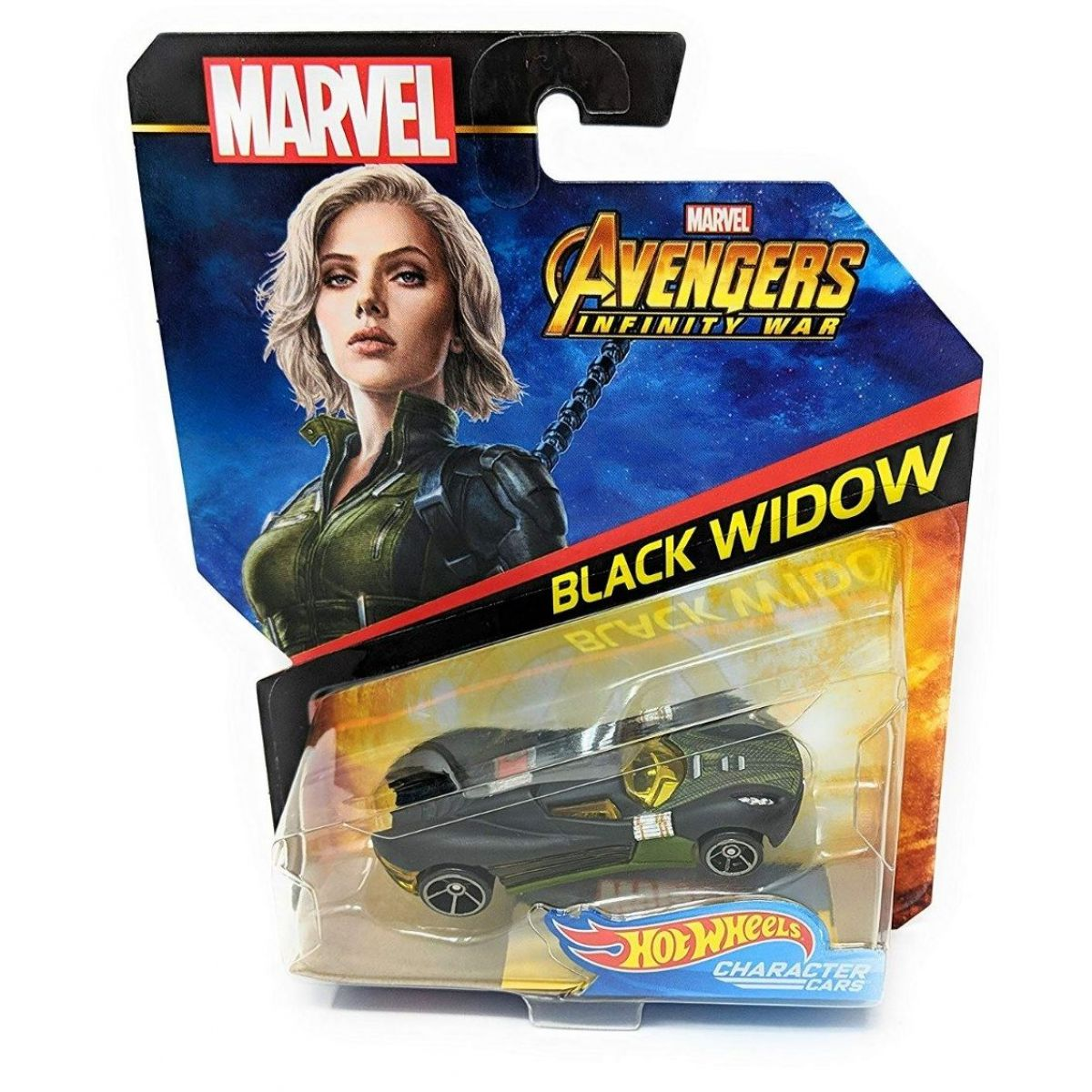 Hot Wheels Marvel kultovní angličák Black Widow
