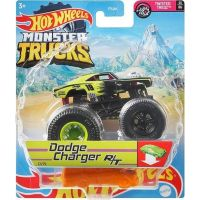 Hot Wheels Monster trucks kaskadérské kousky Dodge Charger RT černý 3