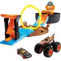 Hot Wheels Monster trucks herní set ohnivý kruh