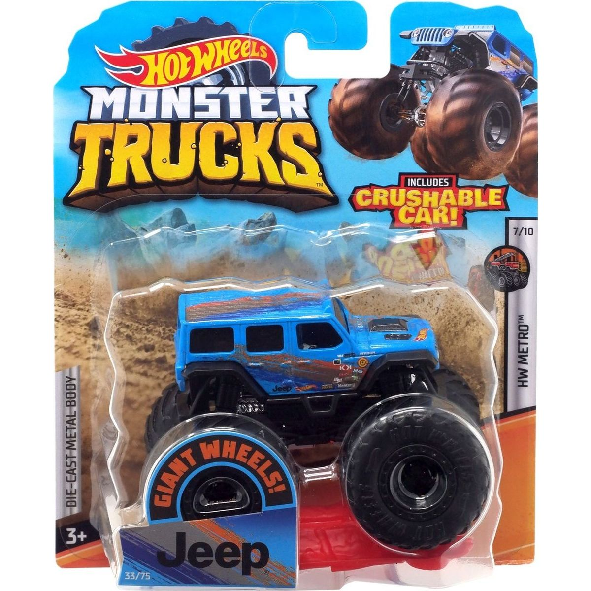 Hot Wheels Monster trucks kaskadérské kousky Jeep