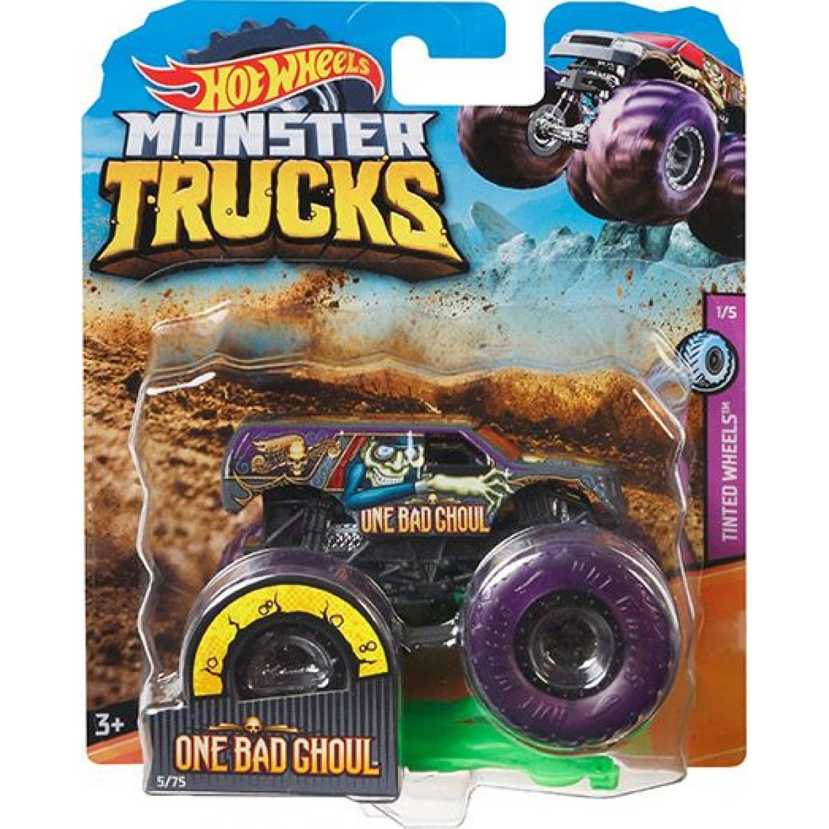 Hot Wheels Monster trucks kaskadérské kousky One Bad Ghoul