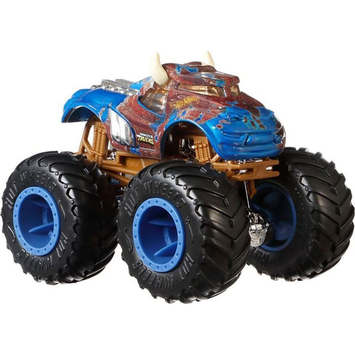 Hot Wheels Monster trucks kaskadérské kousky Steer Clear modrý