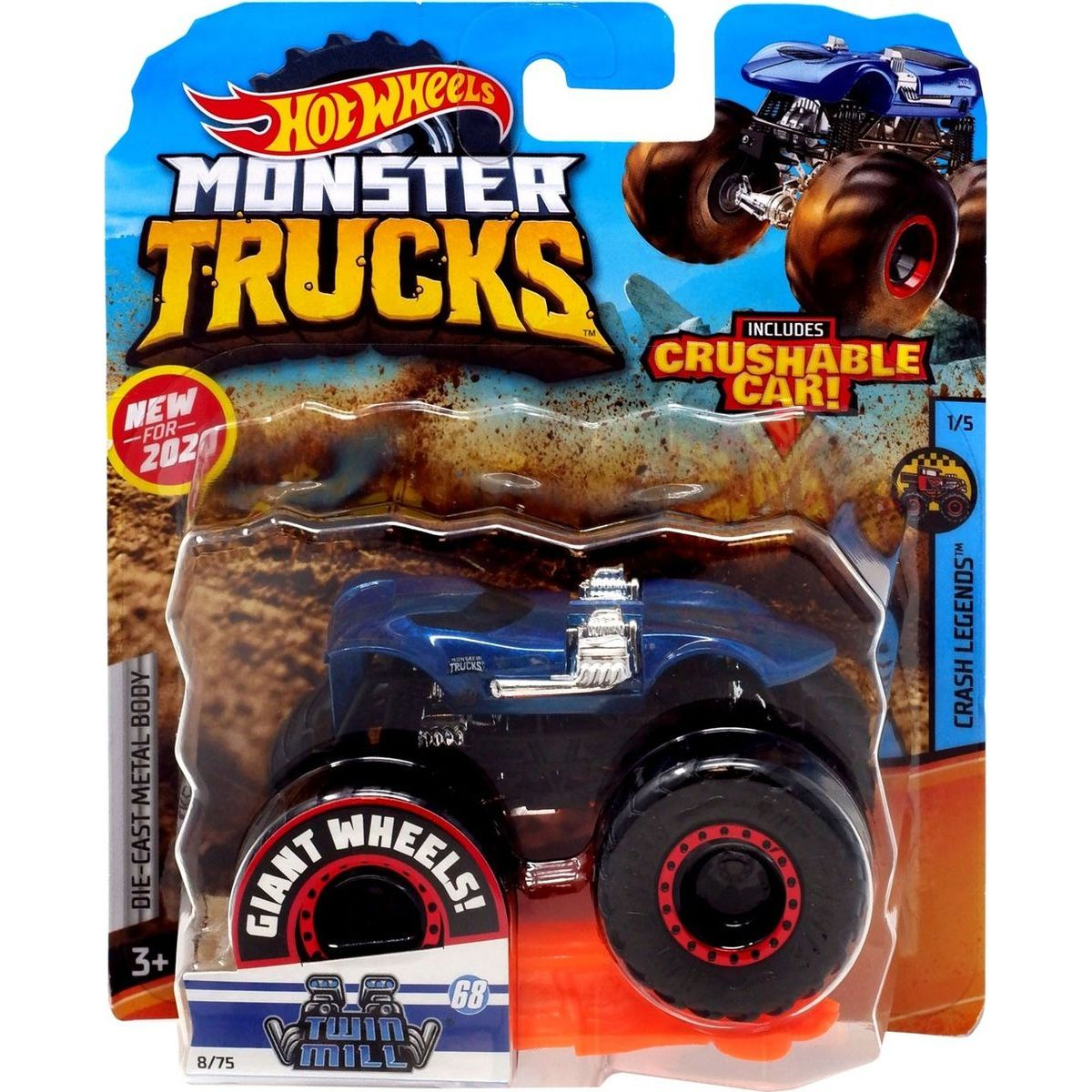 Hot Wheels Monster trucks kaskadérské kousky Twin Mill