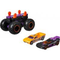 Hot Wheels Monster trucks stvořitel černofialový podvozek