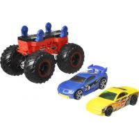 Hot Wheels Monster trucks stvořitel červenočerný podvozek