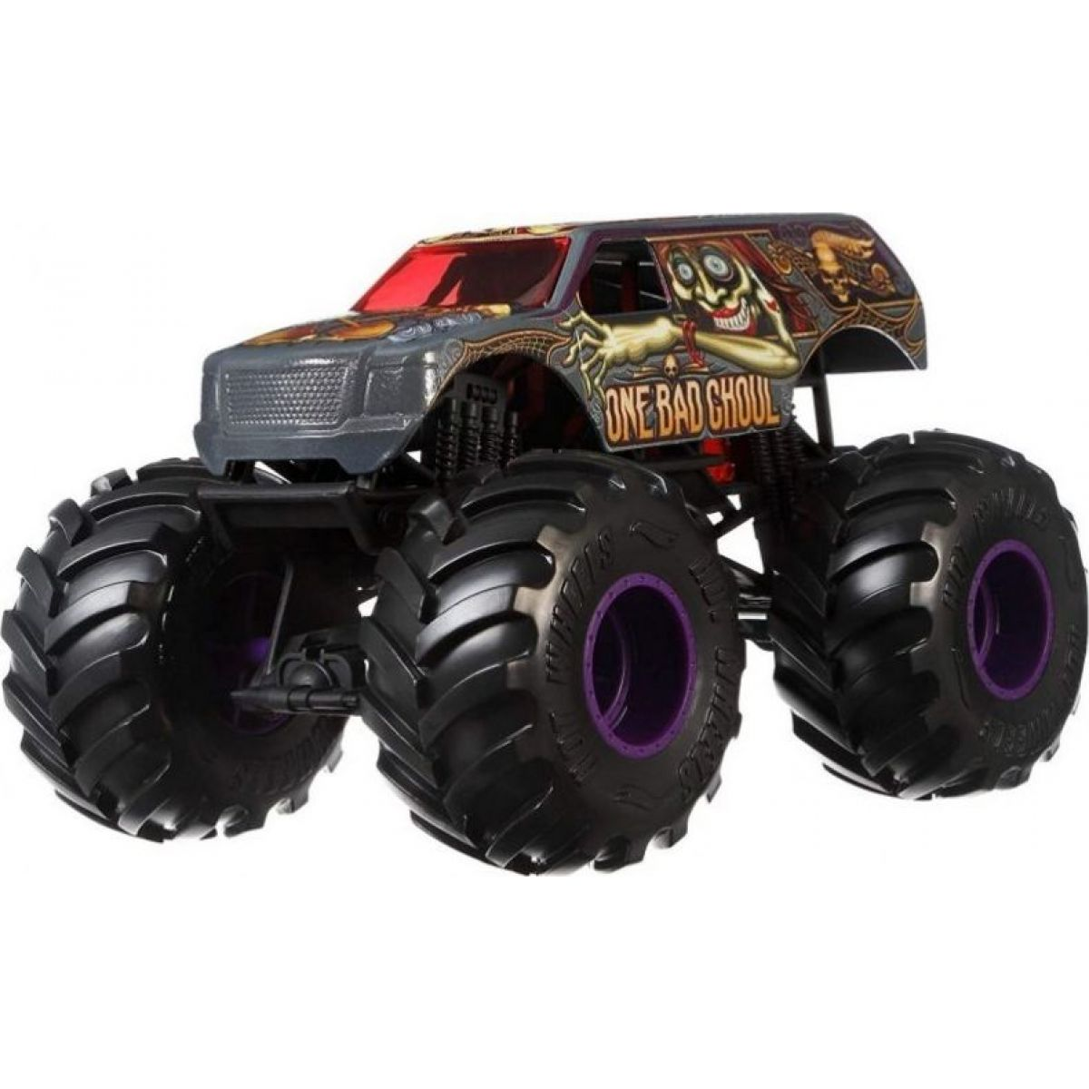 Hot Wheels Monster trucks velký truck One Bad Ghoul