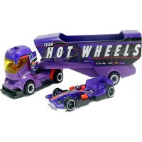 Hot Wheels náklaďák Big Rig Heat fialový