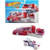 Hot Wheels náklaďák Stuntin Semi červený