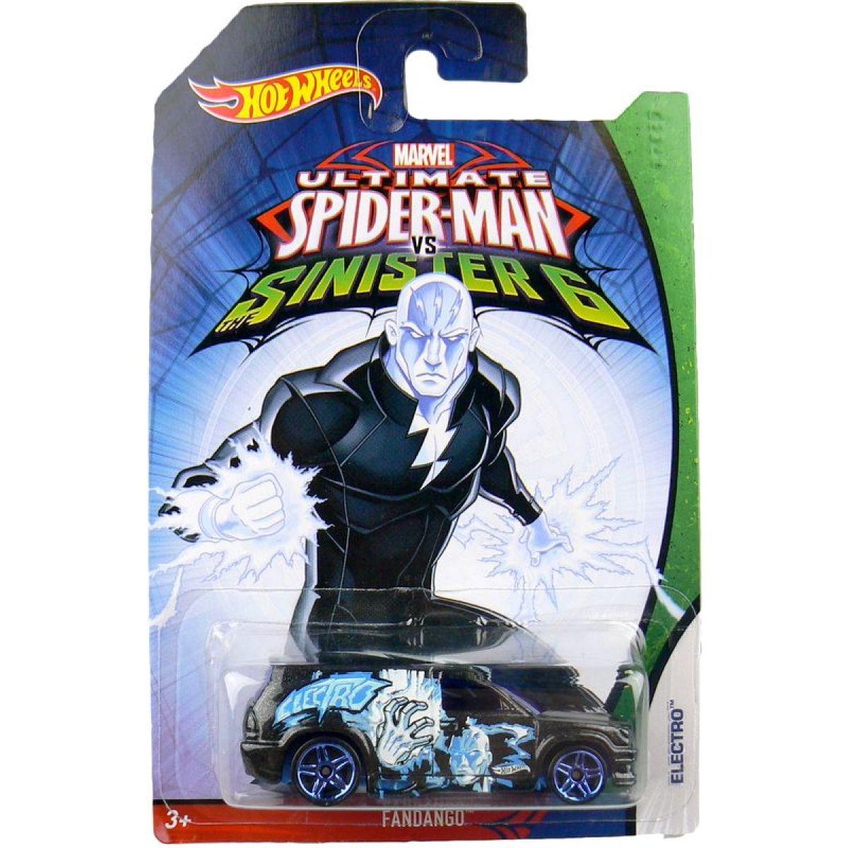 Hot Wheels Spiderman Autíčko - Fandango Electro