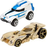 Hot Wheels Star Wars 2ks autíčko - Battle Droid a Clone Trooper